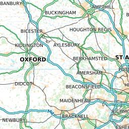 uk roads street maps travel custom maps