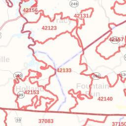 Edmonton ZIP Code Map, Kentucky