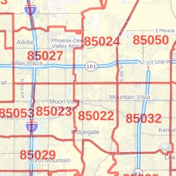 Anthem ZIP Code Map, Arizona