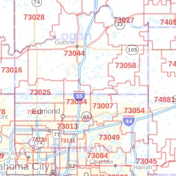 Oklahoma City, Oklahoma ZIP Codes Map